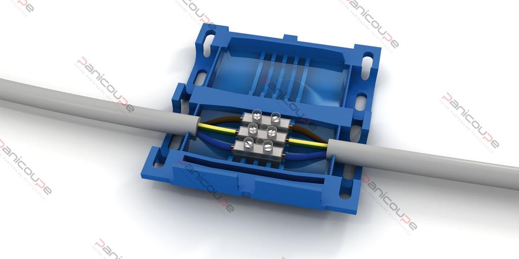 Boite de raccordement gel jonction avec connectique 86x 47x 27mm